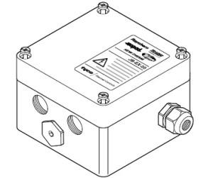JB-EX-20 (EE x e) (1244-000590) Однофазная соединительная коробка (1xM25 + 3xM20) 1-phase splitterbox (1xM25 + 3xM20)