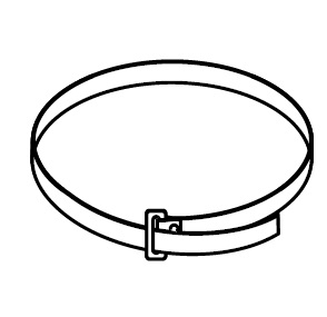 PB 125 (50шт./уп.) (PB125) Хомут для крепления кронштейнов к трубе Pipe strap for support brackets